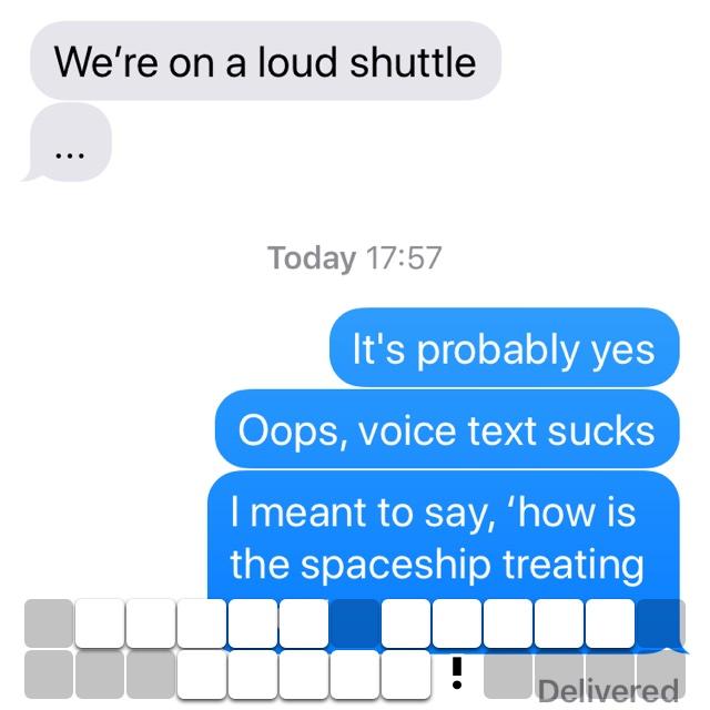 Voice texts sucks!