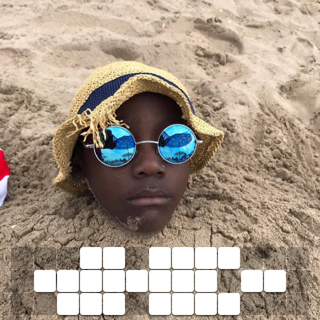 Im just chilling in the sand