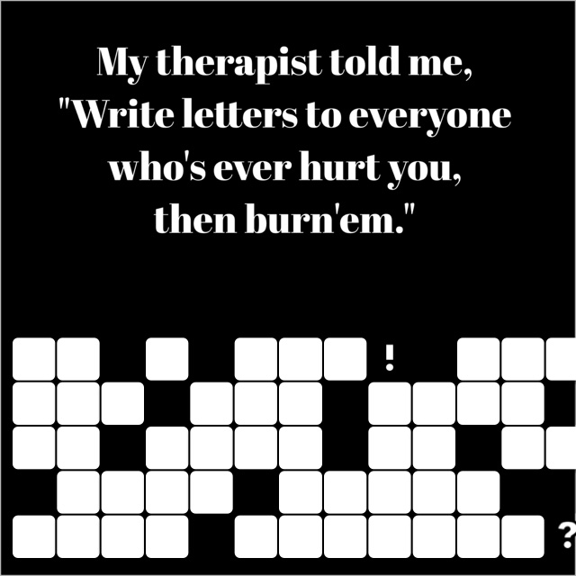 So I did! Now can you tell me what to do with these darn letters?