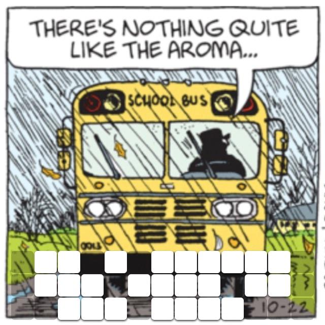 Of a school bus full of wet kids