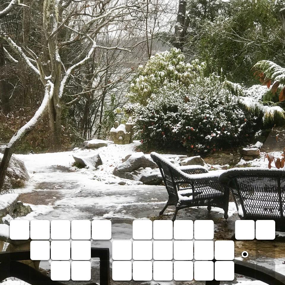 First snow of the season. So pretty
