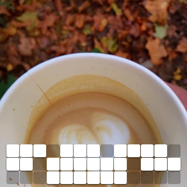 For the love of autumn and coffee