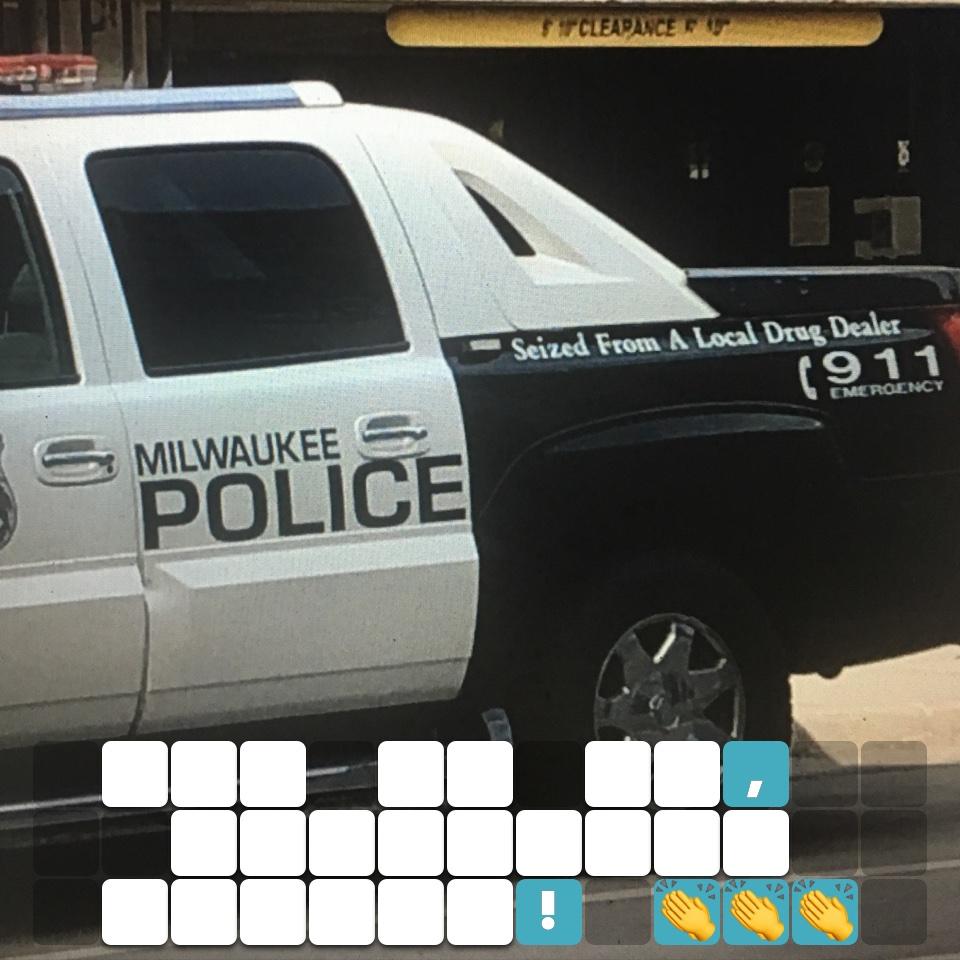 Rub it in, Milwaukee Police! 👏👏👏