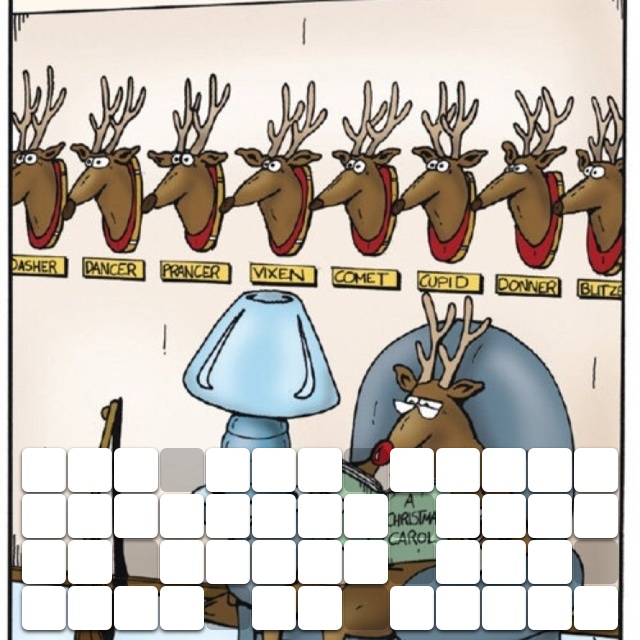 All the other reindeer used to laugh and call me names
