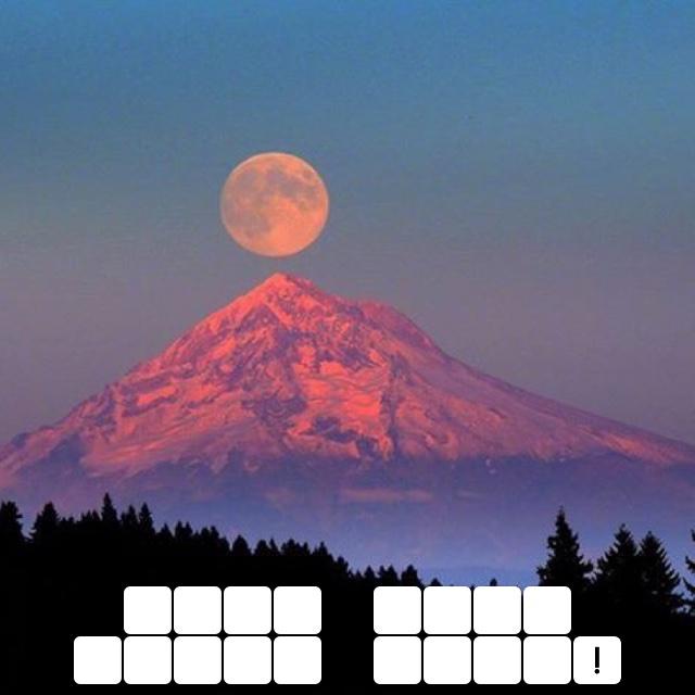 Moon over Mount Hood!