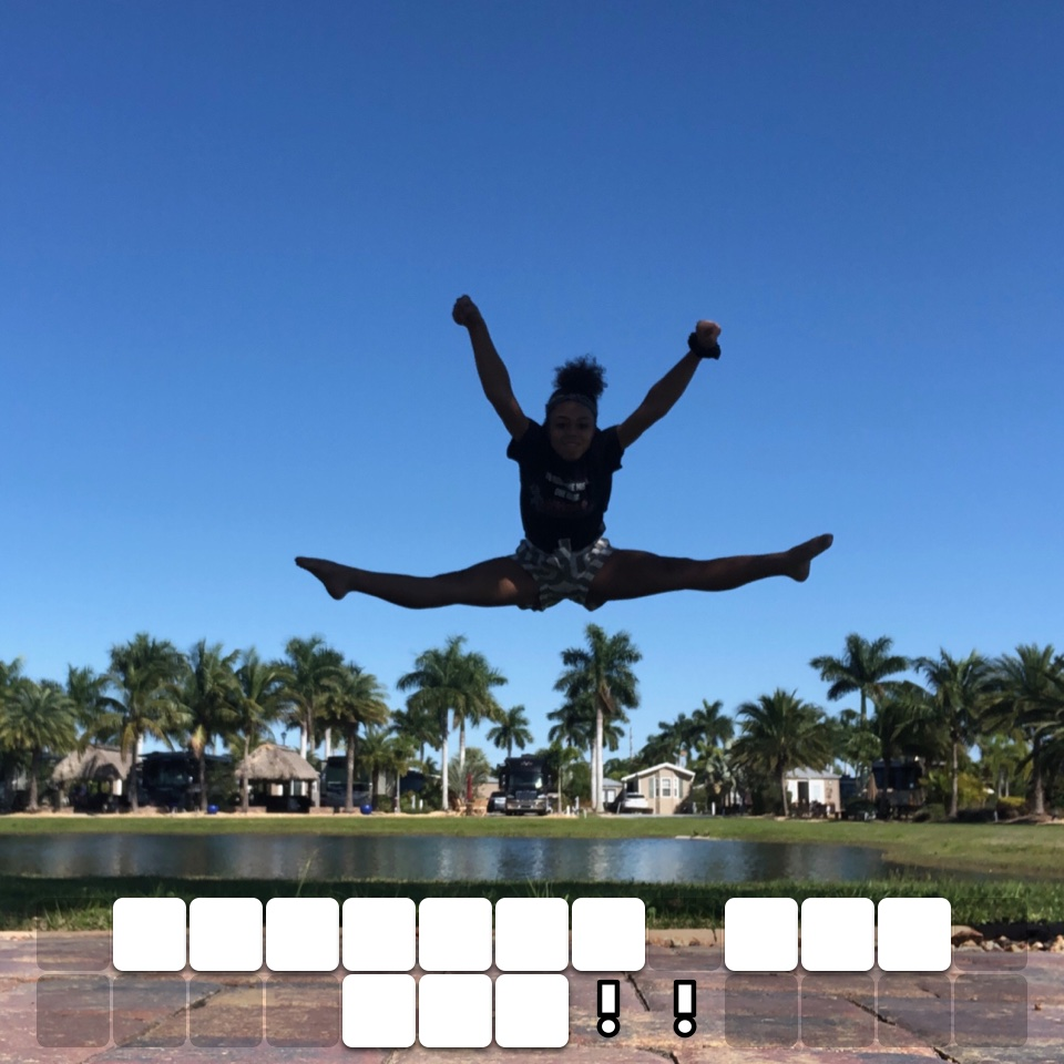 Jumping for joy!!