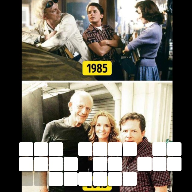 The cast of back to the future