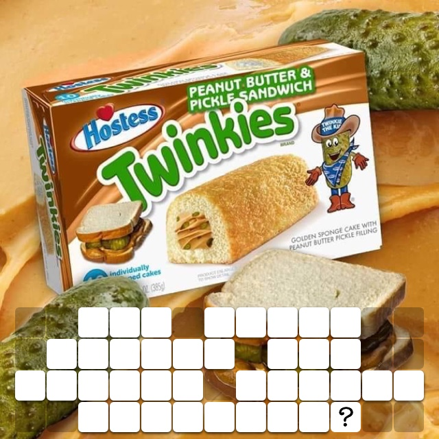 How about pickle and peanut butter Twinkies?