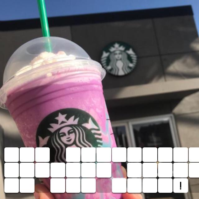 The Starbucks Unicorn drink is the best!