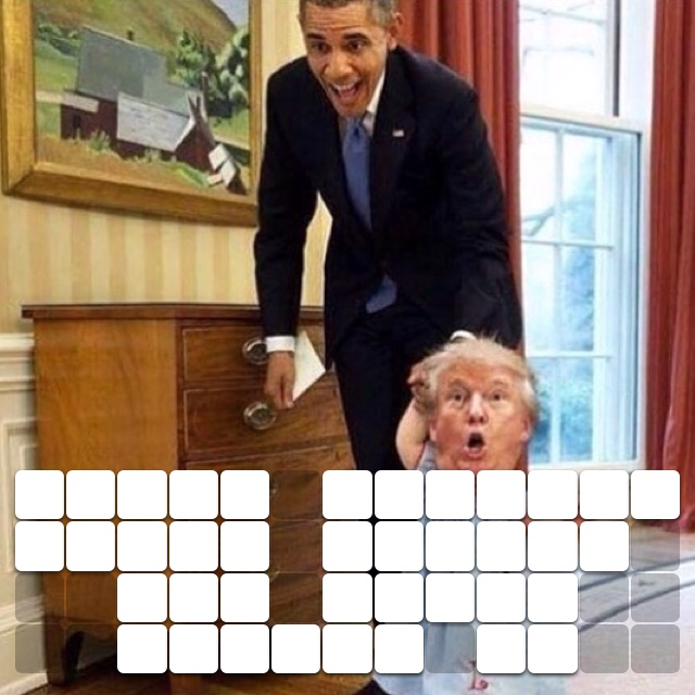 Obama showing Trump around the White House. 😂😂