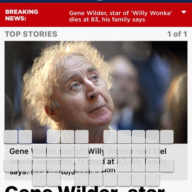 We all loved you, Gene Wilder. Rest in peace❤️