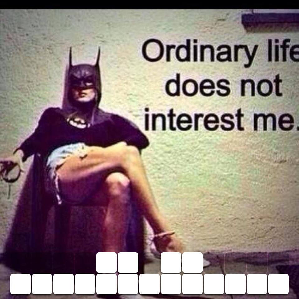 So be extraordinary