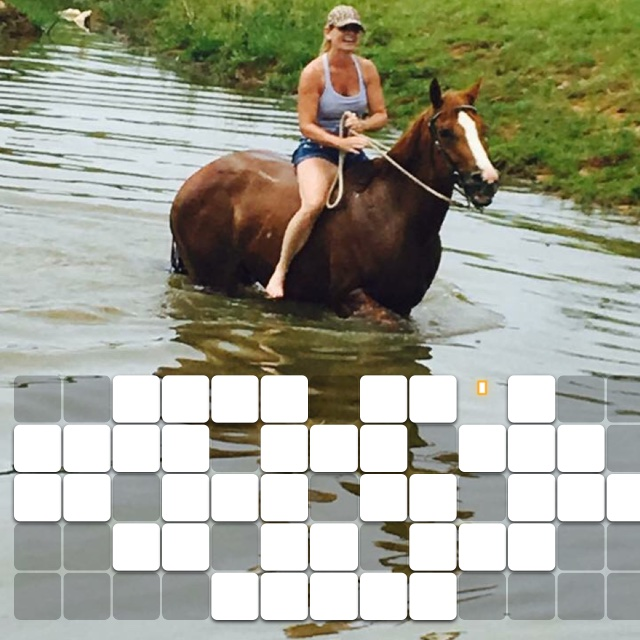 When it's just too hot to sit so you go to the creek