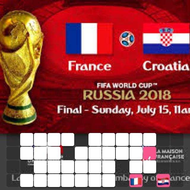 Fifa World Cup final, France vs Croatia 🇫🇷 🇭🇷