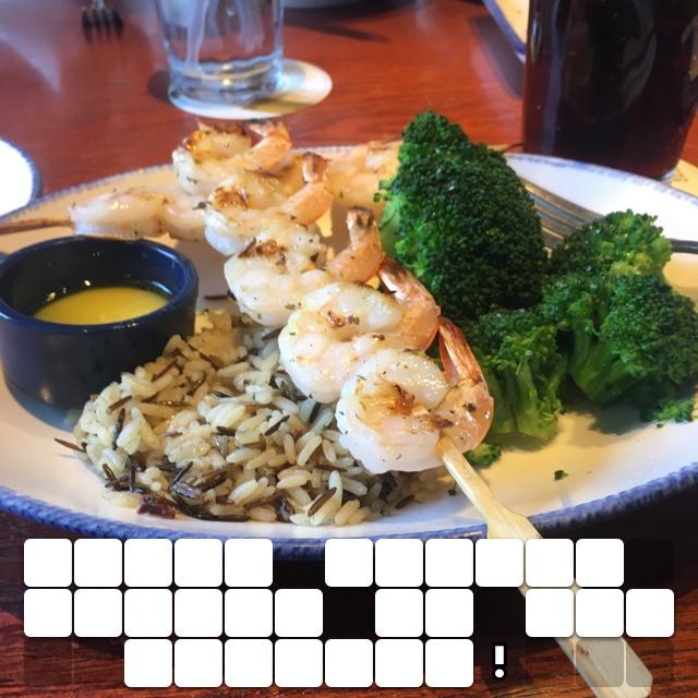 Yummy shrimp dinner at Red Lobster!