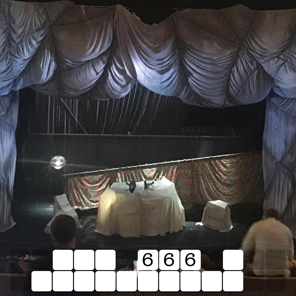 Lot 666 a chandelier